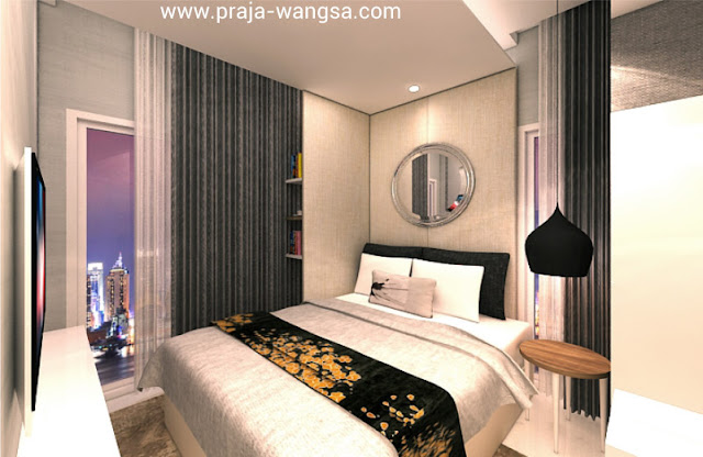 Interior Design Master Bedroom Apartemen Prajawangsa City