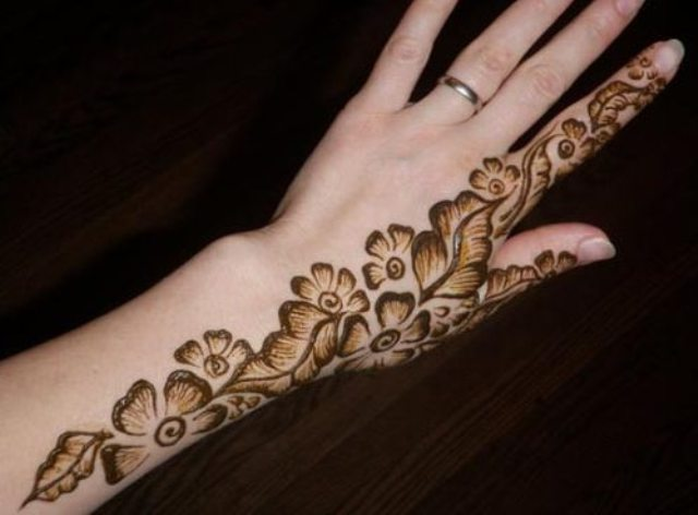 One sided henna design