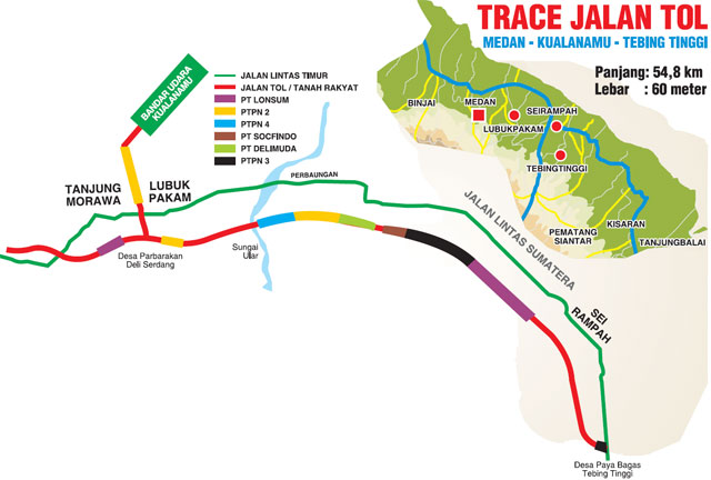 Trace Jalan Tol Kualanamu-Tebing Tinggi