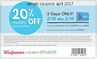 Walgreens coupons april 2017
