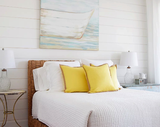 Wicker Twin Daybed Coastal Bedroom Design Idea
