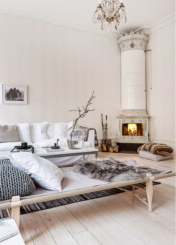 my scandinavian home an elegant swedish space in neutrals. Black Bedroom Furniture Sets. Home Design Ideas