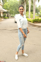 Rakul Preet Singh in Jeans and White Shirt At Jaya Janaki Nayaka le Logo Launch ~  Exclusive 038.JPG