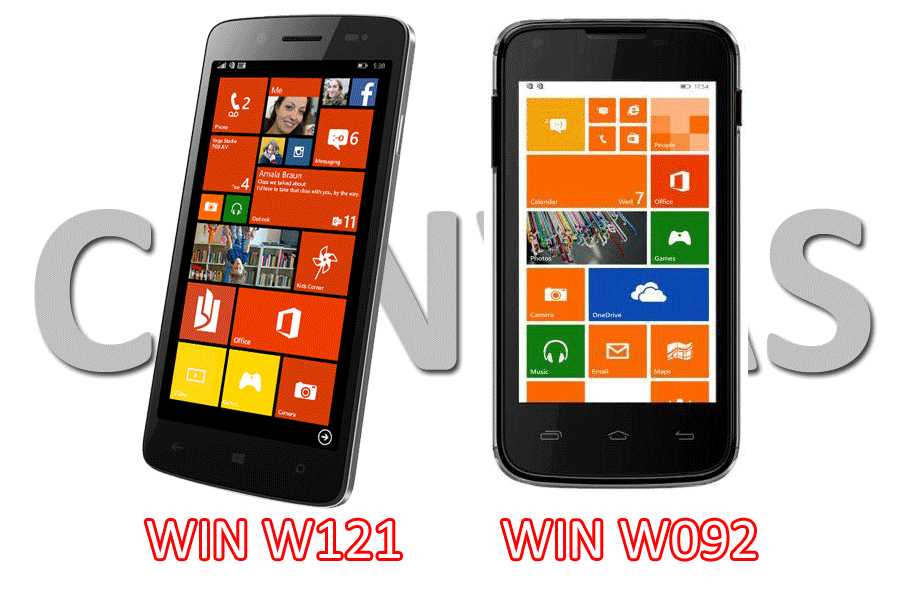 Micromax Canvas Win  W121 and W092 smartphones