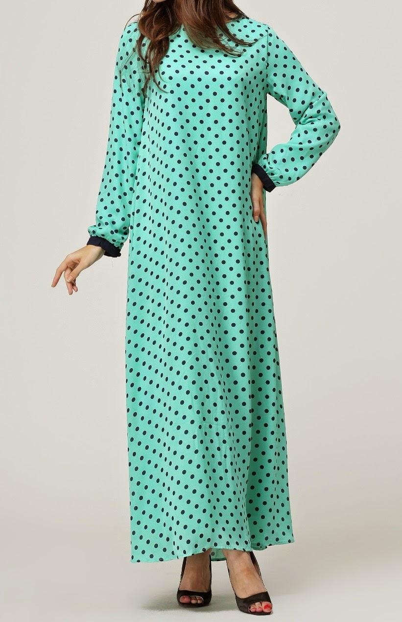 Khalisah Fashion Boutique Kh013 Polkadot Jubah Maternity