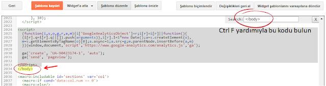 Google Analytics Web sitesi izleme kodunu Blogger'a ekleme