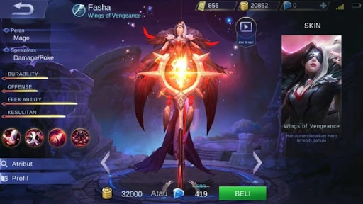 New hero Fasha, Wings of Vengeance (+Skills)