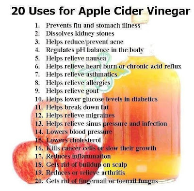 20 Uses Of Apple Cider Vinegar  ~ THE EDUCATION TREASURE