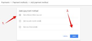 Cara menambah metode Pembayaran Adsense Via Western Union