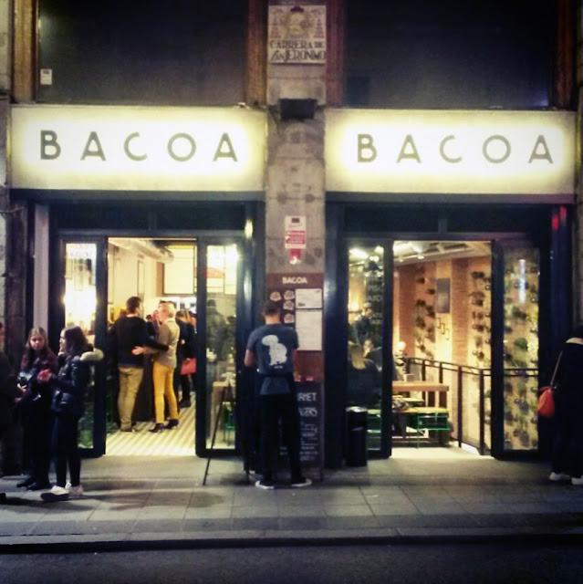 Bacoa, fachada de Madrid
