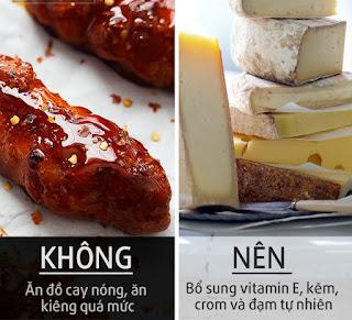 thịt, cá, đậu, phô mai, sữa chua,… để đảm bảo sự phát triển cấu trúc bề mặt da