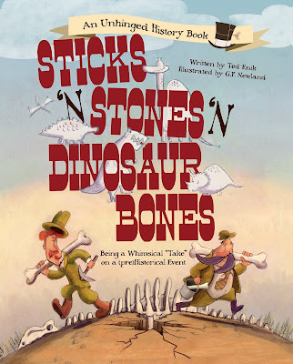 The paleontology-based rivalry between Edward Drinker Cope and Othniel Charles Marsh comes to life in this humorous adventure.  With it's great rhythm, rhyme, illustrations, and voice, Sticks 'n' Stones 'n' Dinosaur Bones reads more like fiction than nonfiction and is sure to be a fast favorite.