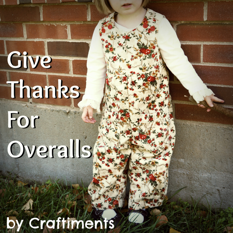 Craftiments:  Give Thanks for Overalls {Little girls Thanksgiving outfit}