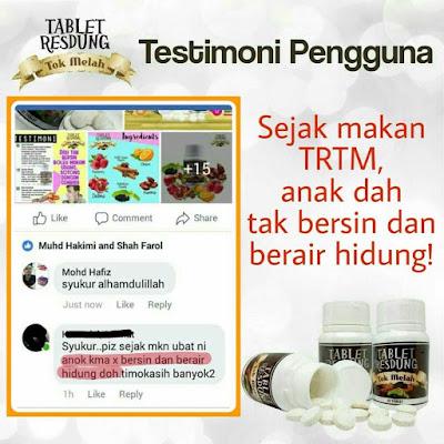 testimoni Tablet Resdung Tok Melah