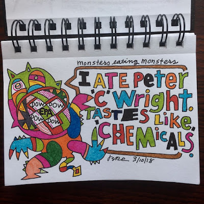 I ate Peter C. Wright. Tastes like Chemicals.