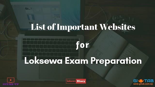 Important Websites for Loksewa Preparation