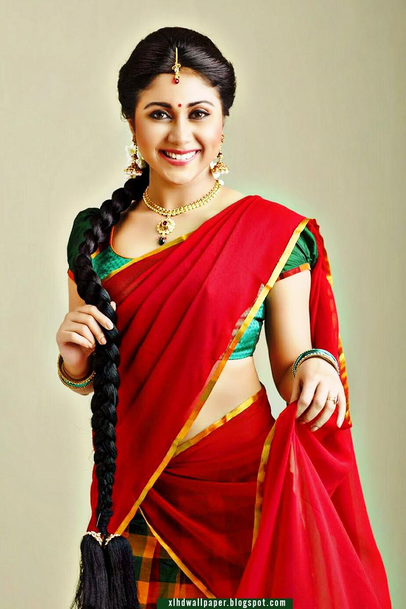Indian Film Actress Meghali In Half Saree Large Hd Wallpaper Free