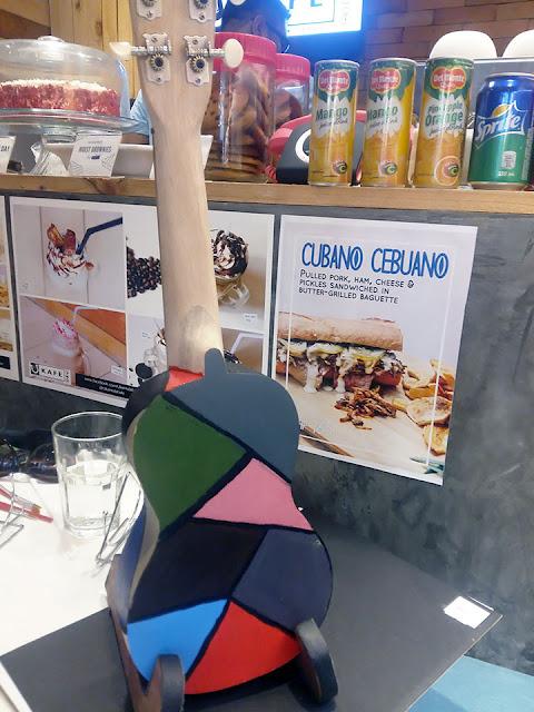 Deah's painted ukulele at UkeHUB Kafe in Mactan Island Lapulapu City Cebu Philippines