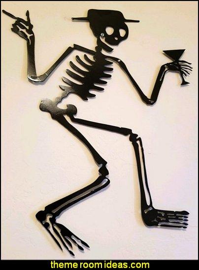 Skeleton metal art