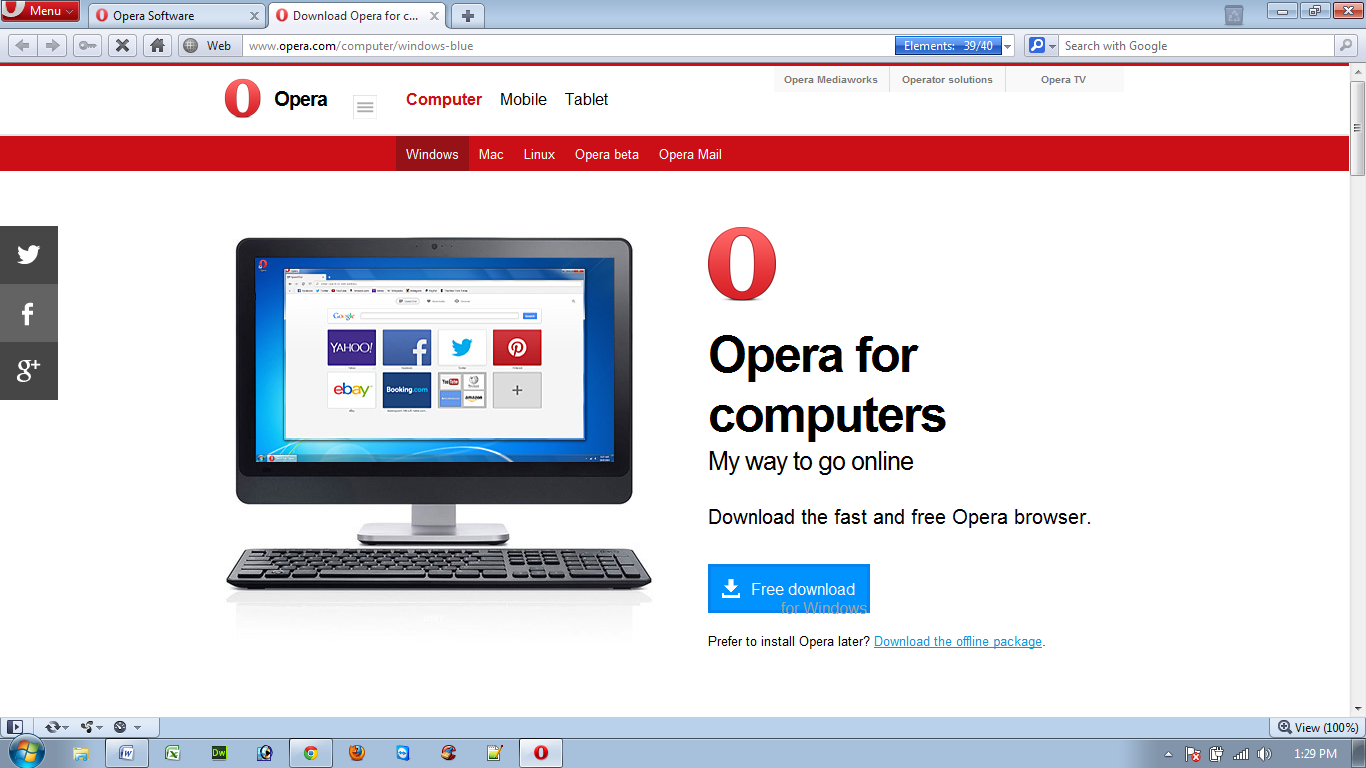 Free Download Opera Vista 32 Bit - graphmnogosofta