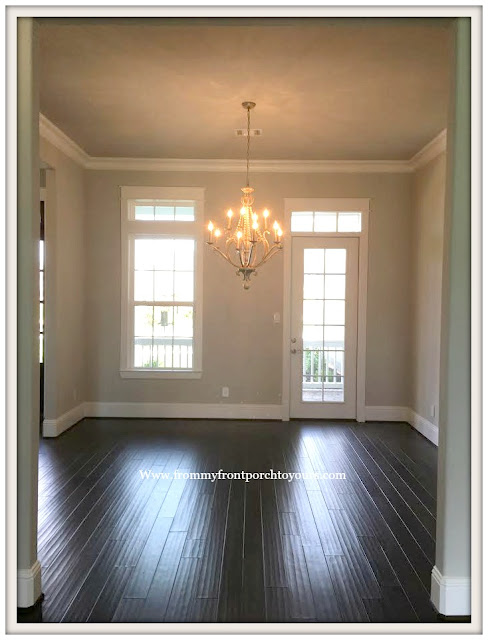 New Construction-Open House-Southern Style-Home-French Chandelier-Dining Room-From My Front Porch To Yours