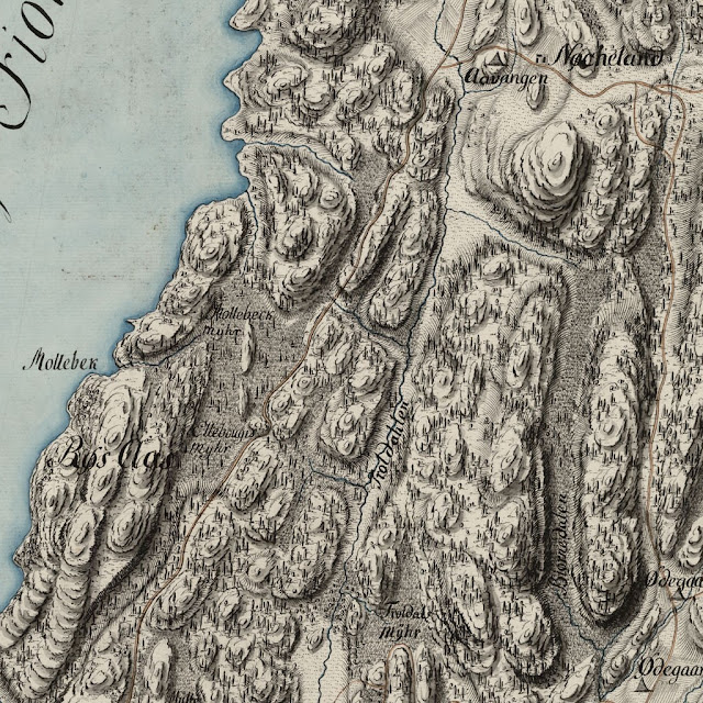 Образец старой карты ручной работы
