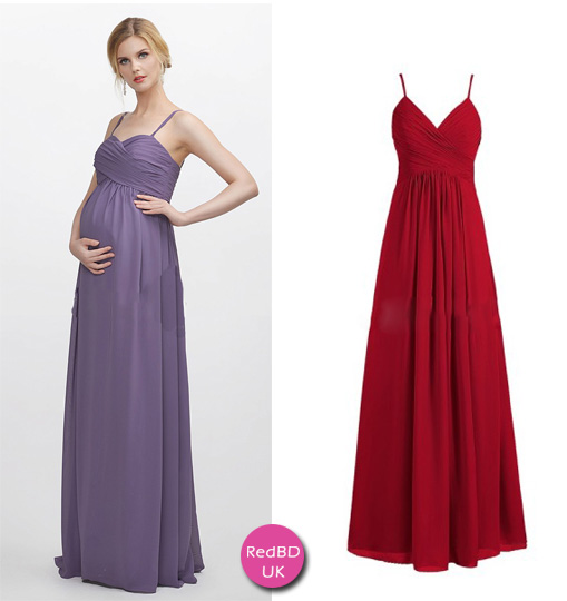 maternity bridesmaid dresses with spaghetti straps