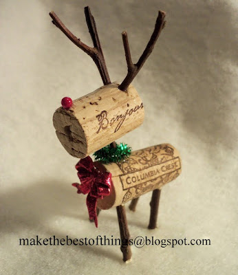 wine cork reindeer craft, Christmas crafts, kids crafts