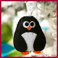 Pinguino navideño