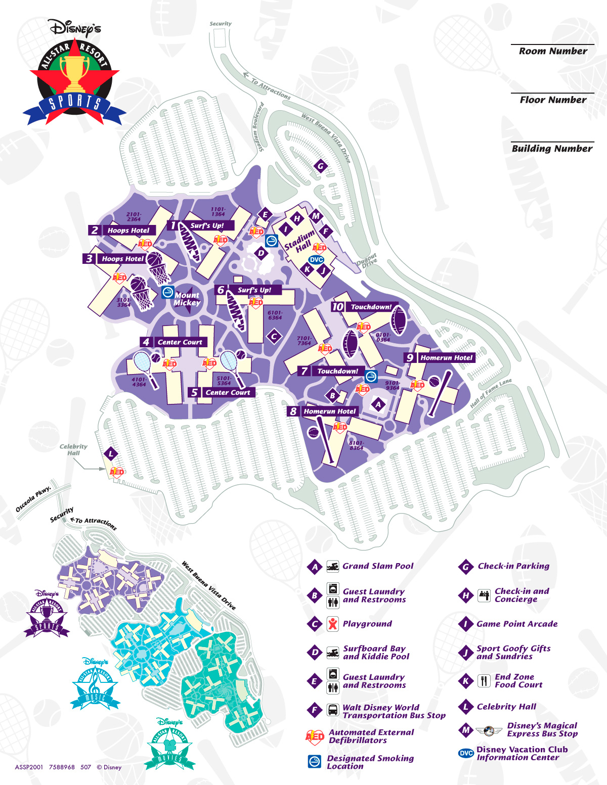 Mapa Disney's All Star Sports
