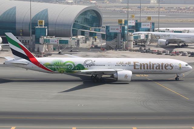 Emirates Boeing 777-300ER Brasil World Cup 2014 Livery