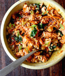 salmon bibimbap recipe by seasonwithspice.com