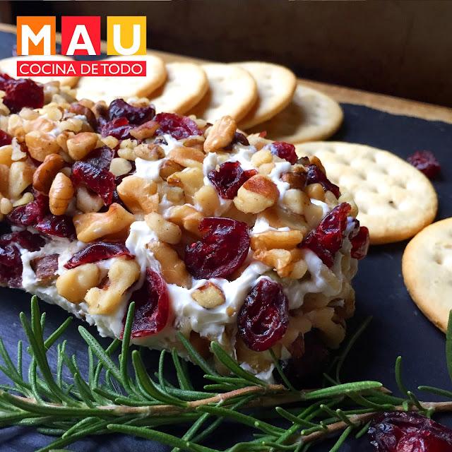 botana de queso para fiestas rapida y sencilla