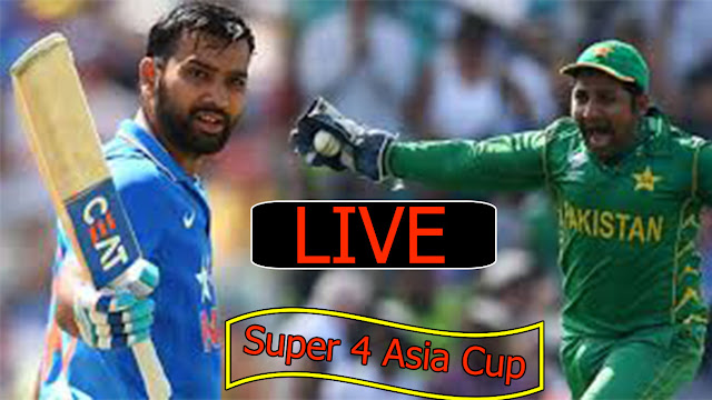 Pak Vs Ind live Super 4