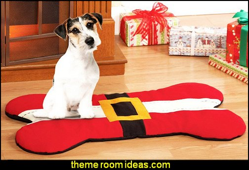 bone shaped Christmas Mat  Christmas decorating ideas - Christmas decor - Christmas decorations - Christmas kitchen decor - santa belly pillows - Santa Suit Duvet covers - Christmas bedding - Christmas pillows - Christmas  bedroom decor  - winter decorating ideas - winter wonderland decorating - Christmas Stockings Holiday decor Santa Claus - decorating for Christmas - 3d Christmas cards