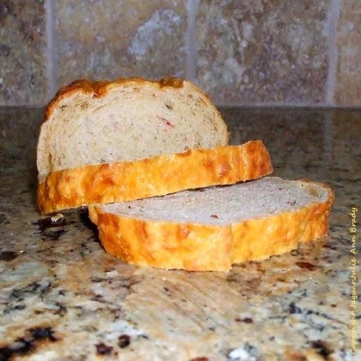 jalapeno cheddar demi loaf sliced