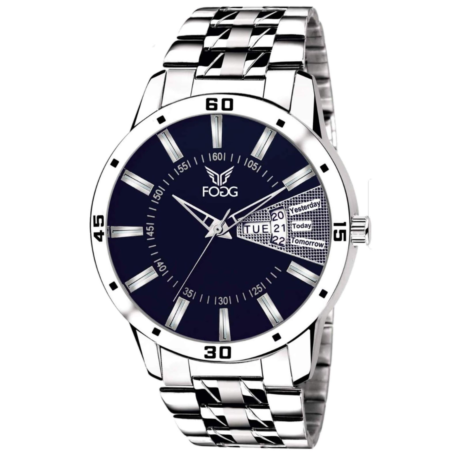 Fogg Stainless Steel 2038-BL (Best Mens Watches Under ₹500)