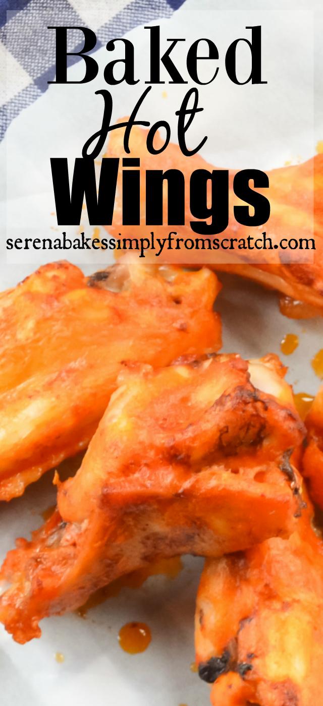 Easy to make Crispy Baked Hot Wings.