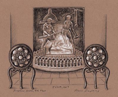 Fireplace Grate. 4th Floor. Isabella Stewart Gardner Museum. by Travis Simpkins