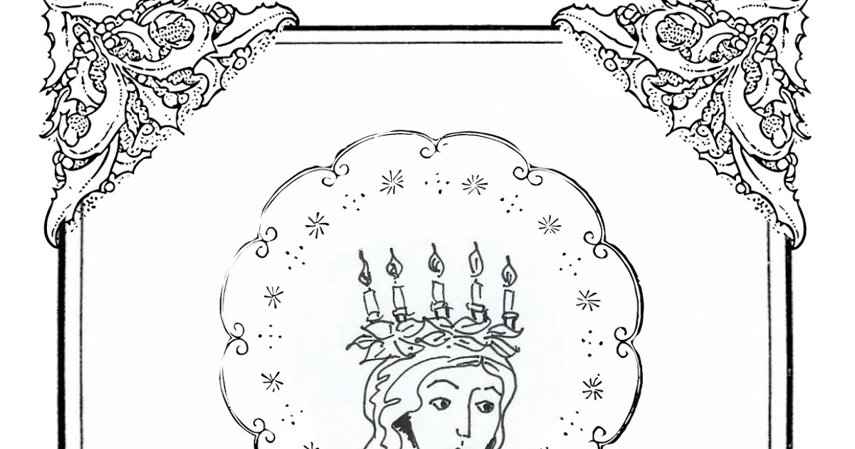 st lucias day coloring pages - photo#27
