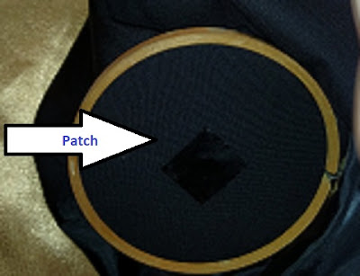 Glued-on Fabric Patch