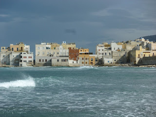 The old part of Trapani sits on a promontory
