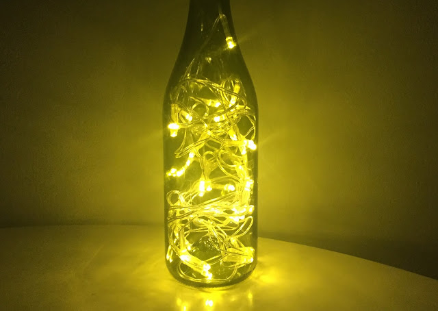 DIY wine bottle lights