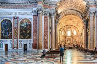 Basílica santa María de los ángeles en el bus turístico por roma