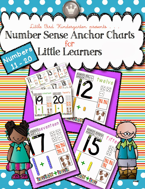 Number Sense Anchor Charts for Little Learners