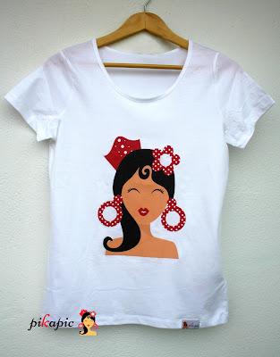 Camiseta serigrafiada flamenca Pikapic