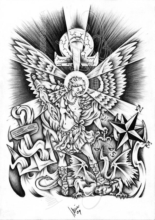 Archangel Michael Designs St michael tattoo designs