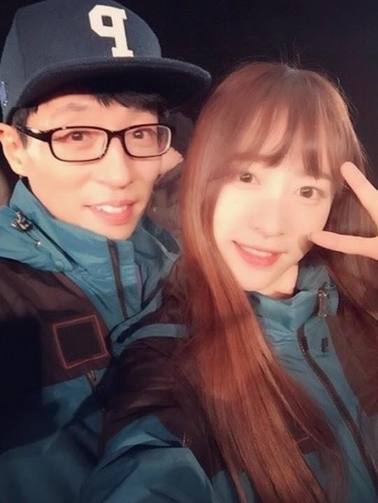 Hani's selfie with Yueunim (Yoo Jae Suk)