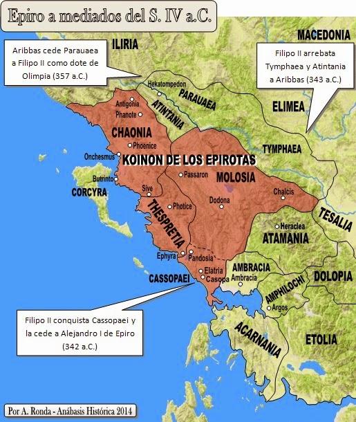 Resultado de imagen de mapa reino de epiro pirro