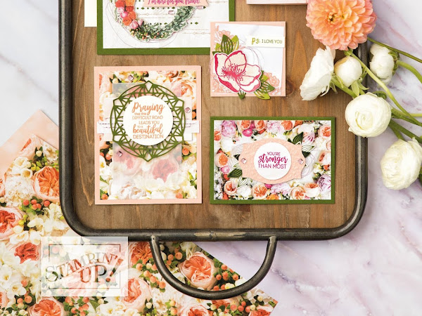 Stampin' Up! Watch It Wednesday - Insider Look Into The Petal Promenade Designer Series Paper by Stampin' Up!